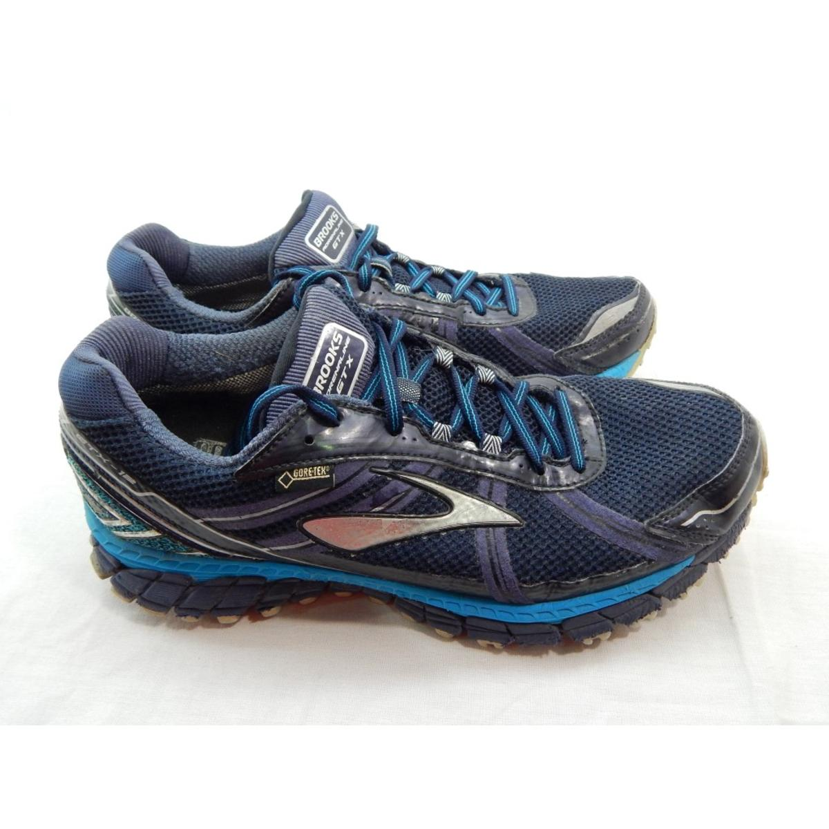 brooks adrenaline asr 12 gtx men 39 s peacoat atomic blue running shoe 10 5m ebay. Black Bedroom Furniture Sets. Home Design Ideas
