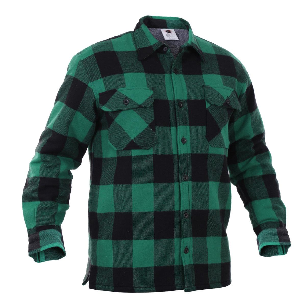Extra Heavyweight Brawny Sherpa Lined Flannel Jacket In
