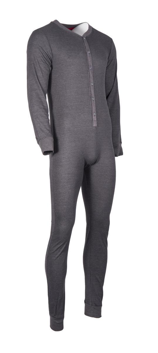 Perry Ellis Mens Union Suit, Full Body Thermal Underwear, Long ...