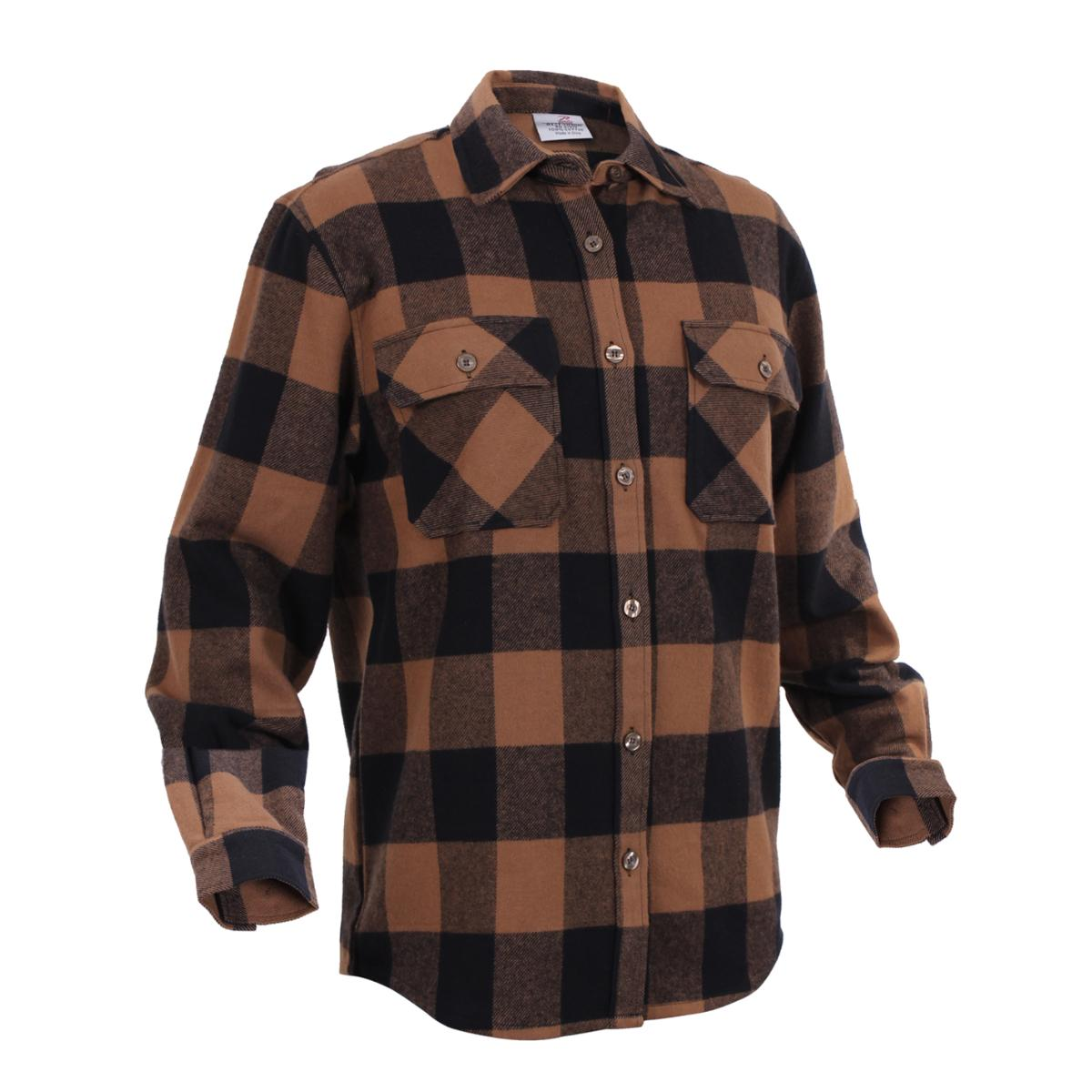 extra heavyweight brawny flannel shirt buffalo plaid ebay