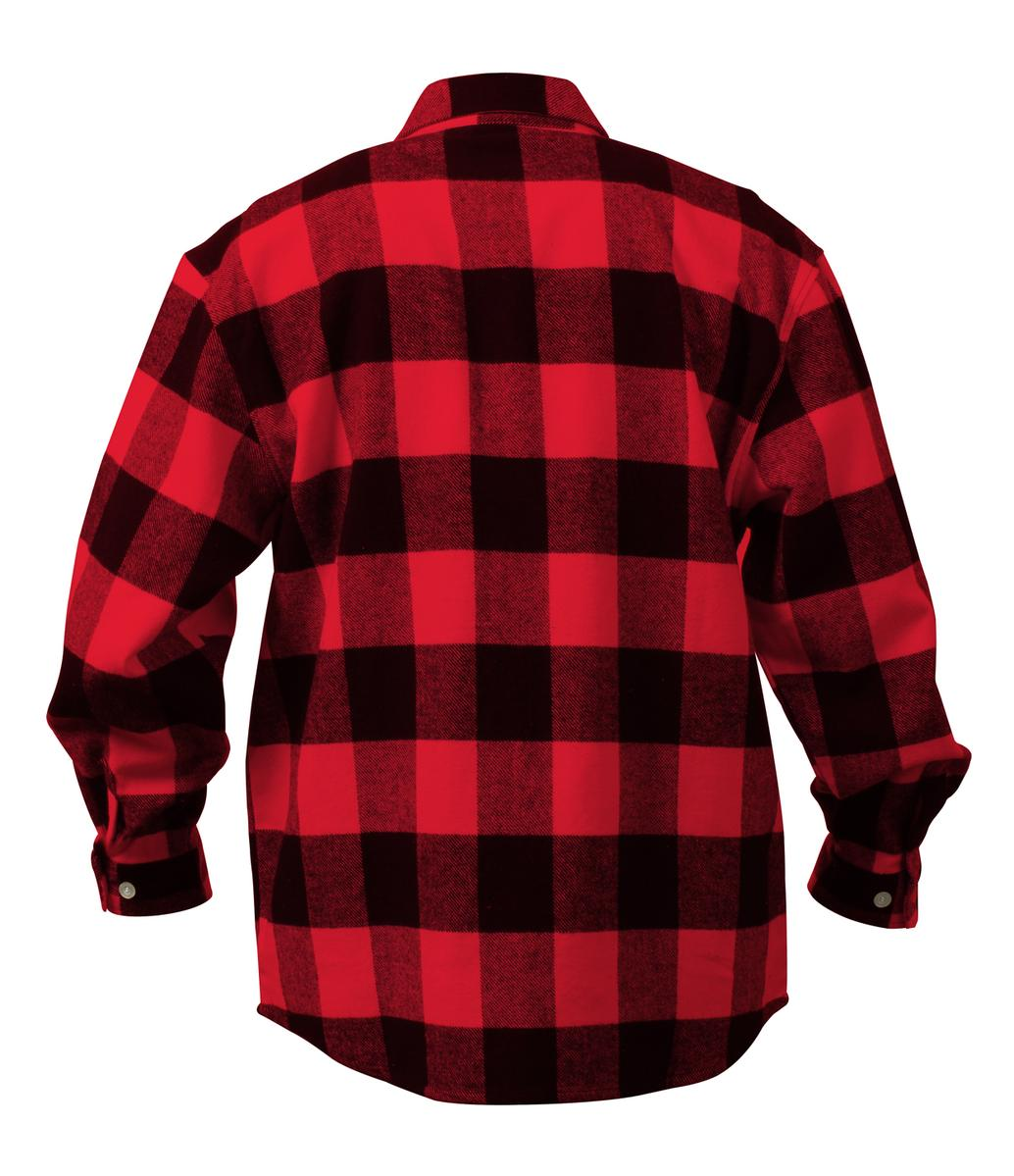 Extra heavyweight brawny flannel shirt buffalo plaid ebay for Buffalo check flannel shirt jacket