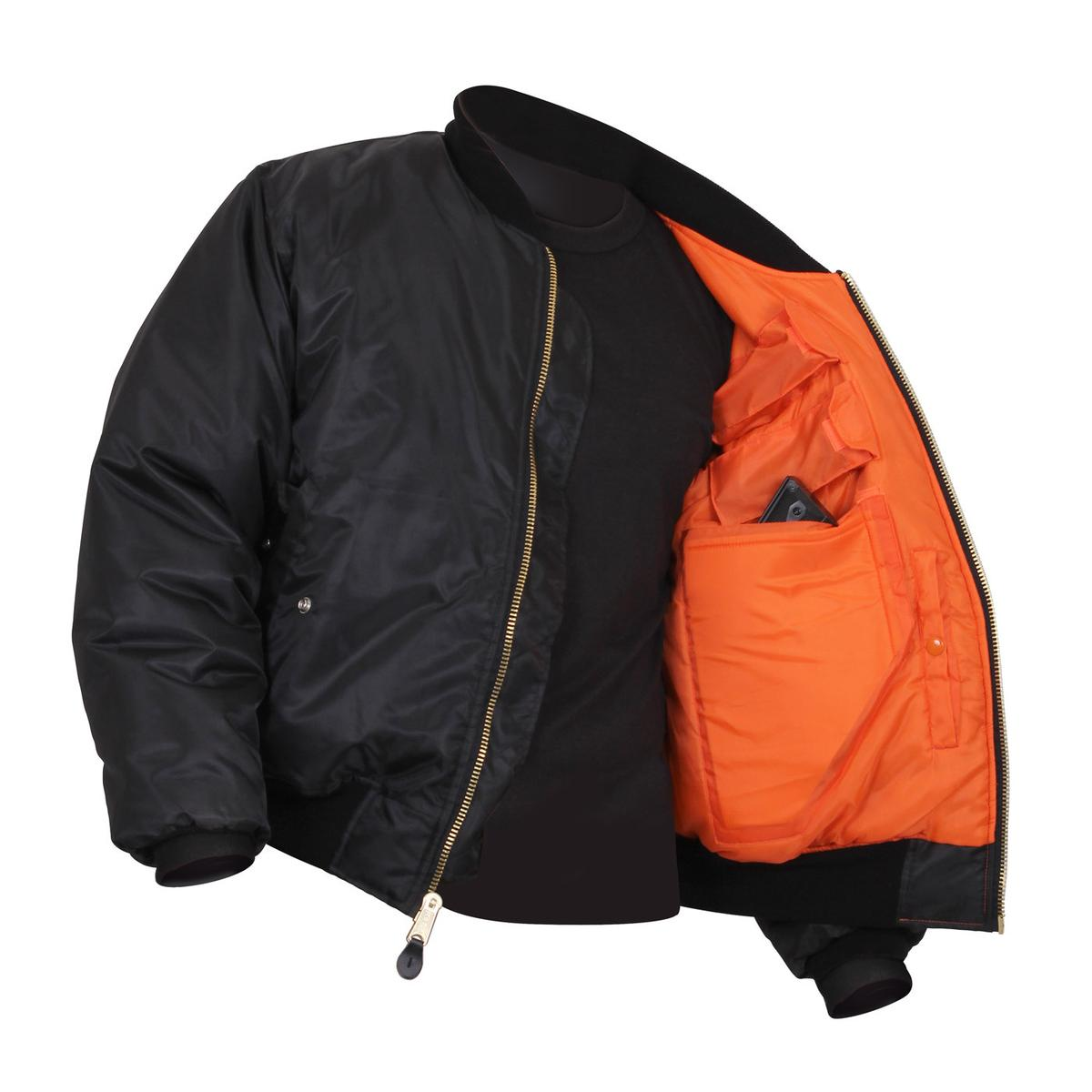 Rothco Concealed Carry MA-1 Flight Jacket, Military Bomber Jacket ...