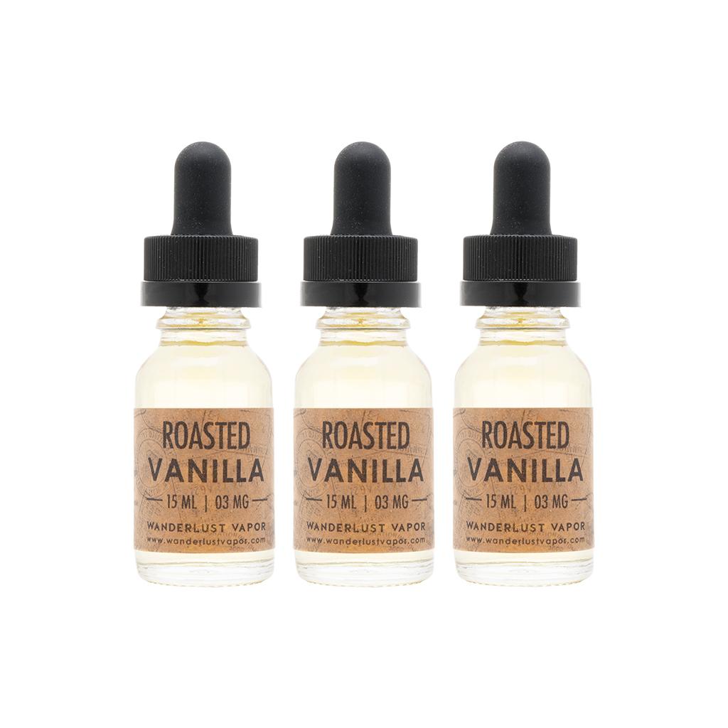 Wanderlust Vapor - Roasted Vanilla | 45mL Signature Value Pack: 3 Bottles Photo
