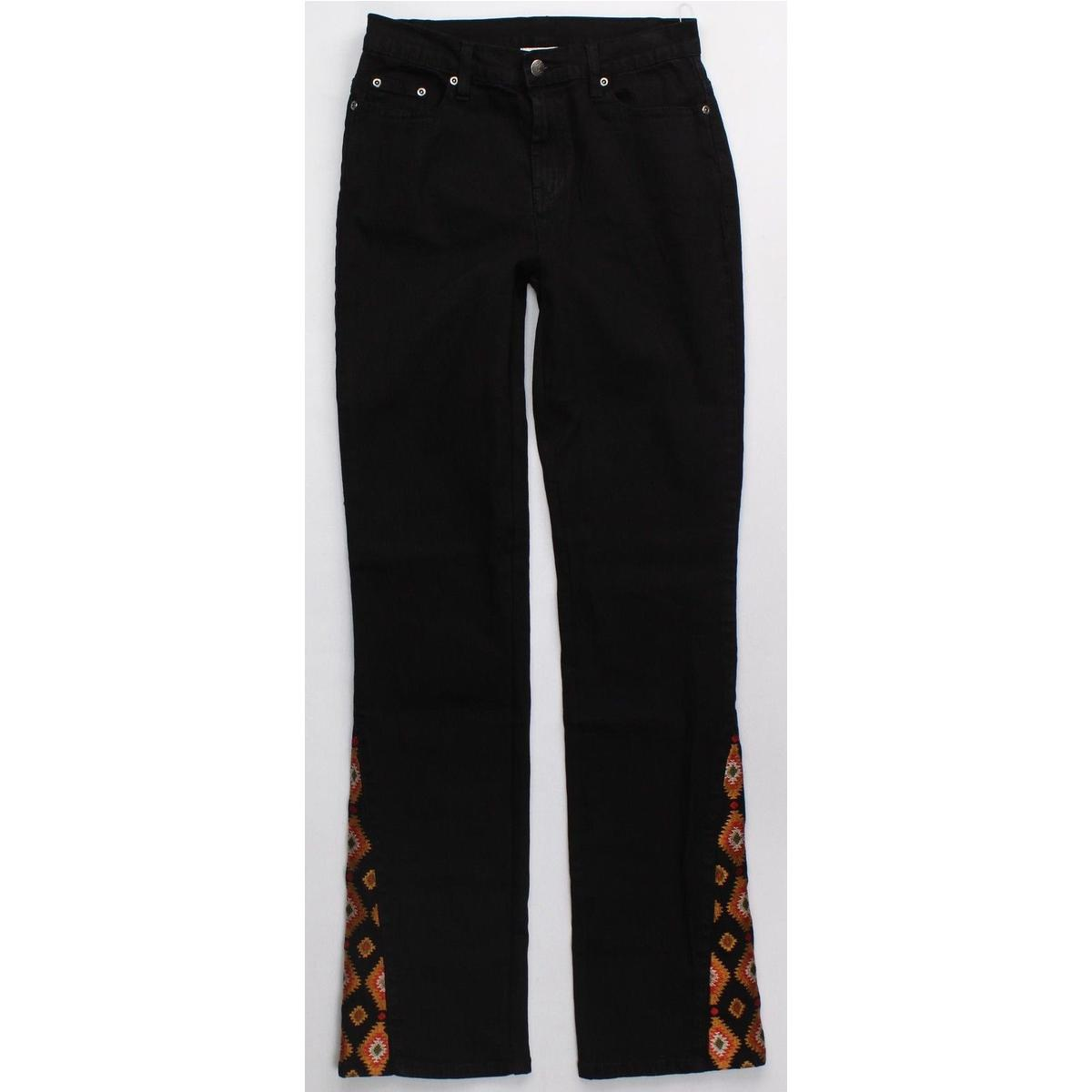 Diane gilman dg embroidered bootcut jeans womens cotton