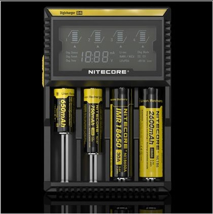 NITECORE D4 DIGICHARGER - ADVANCED DIGITAL SMART CHARGER Nitecore, NITECORE D4 DIGICHARGER - ADVANCED DIGITAL SMART CHARGER, e-cigarette, e-cig, vape, vaping