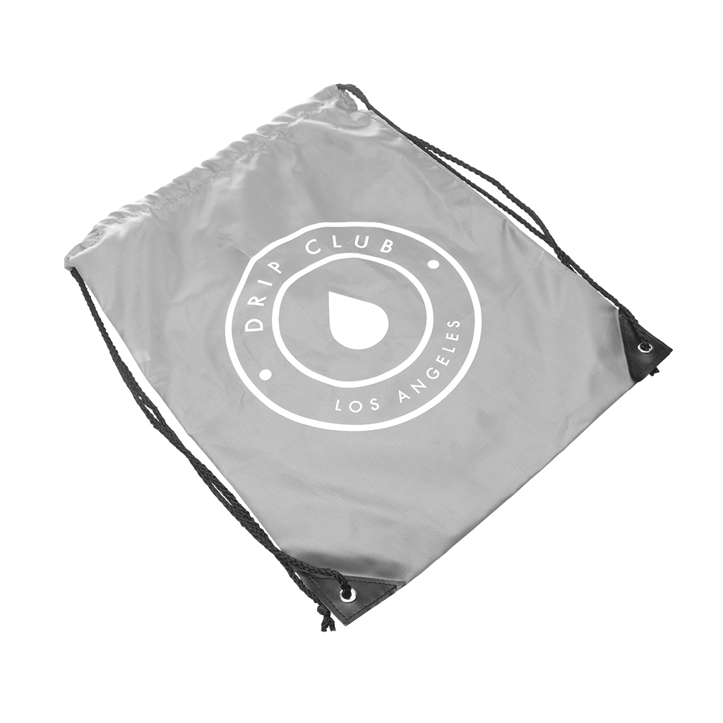 Drip Club Drawstring Bag - Gray  Photo