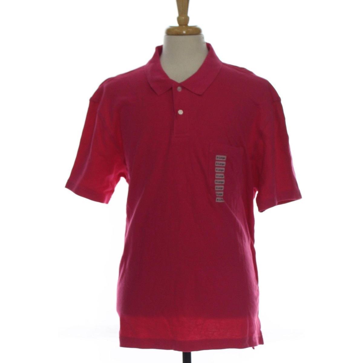 John Ashford Mens XL Pull Over Collar Polo Rugby Shirt
