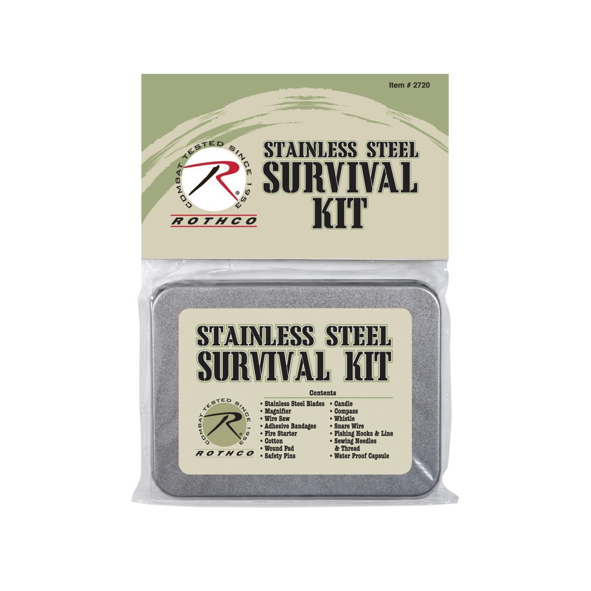 Rothco Compact Survival Kit in a Small Tin