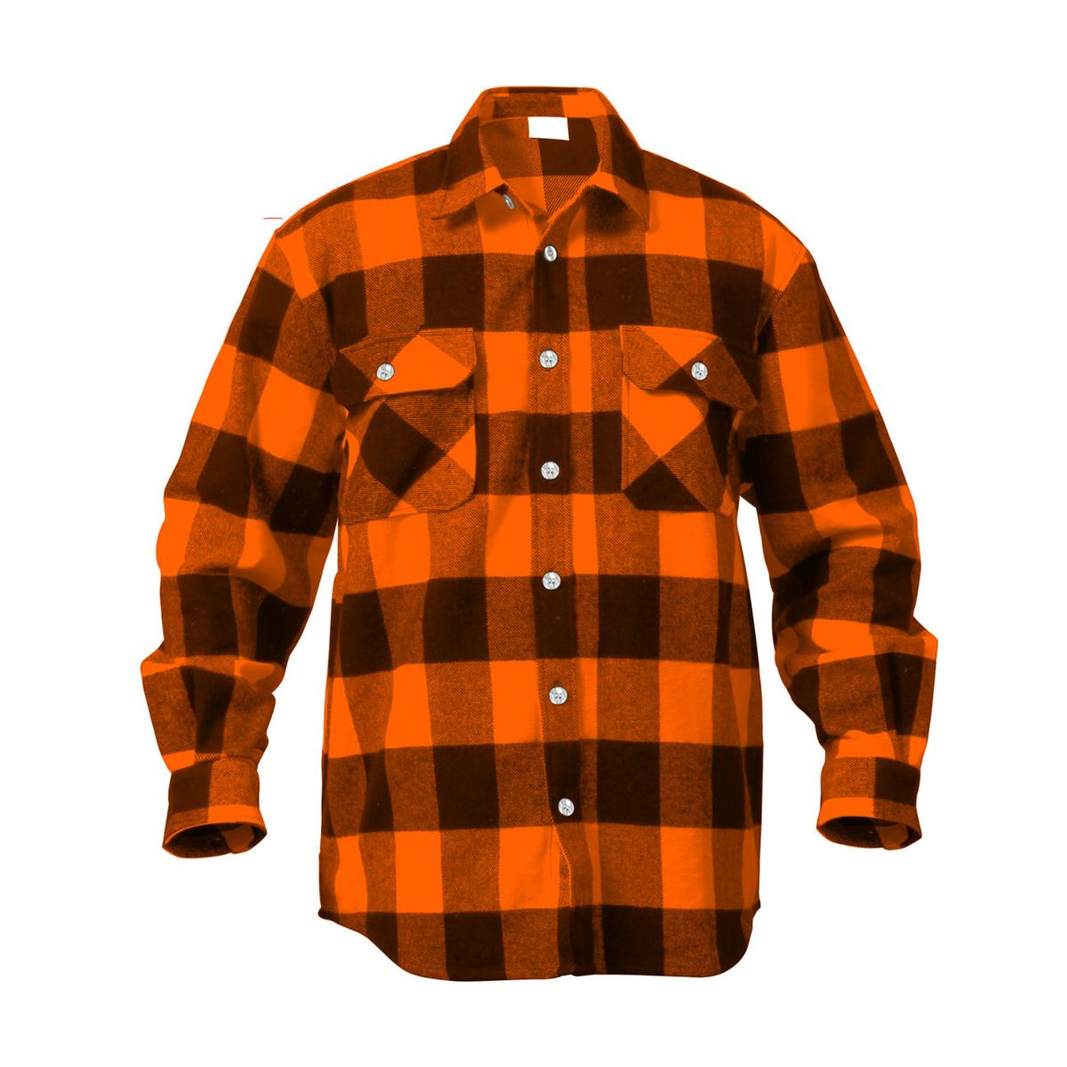 Rothco 4739 Men 39 S Brawny Buffalo Plaid Long Sleeve Flannel