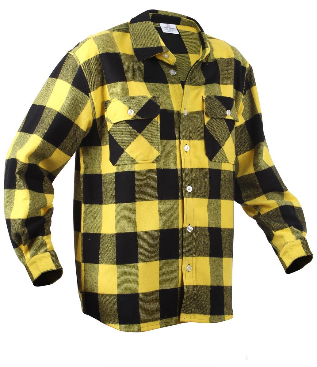 Extra Heavyweight Brawny Flannel Shirt, Buffalo Plaid | eBay
