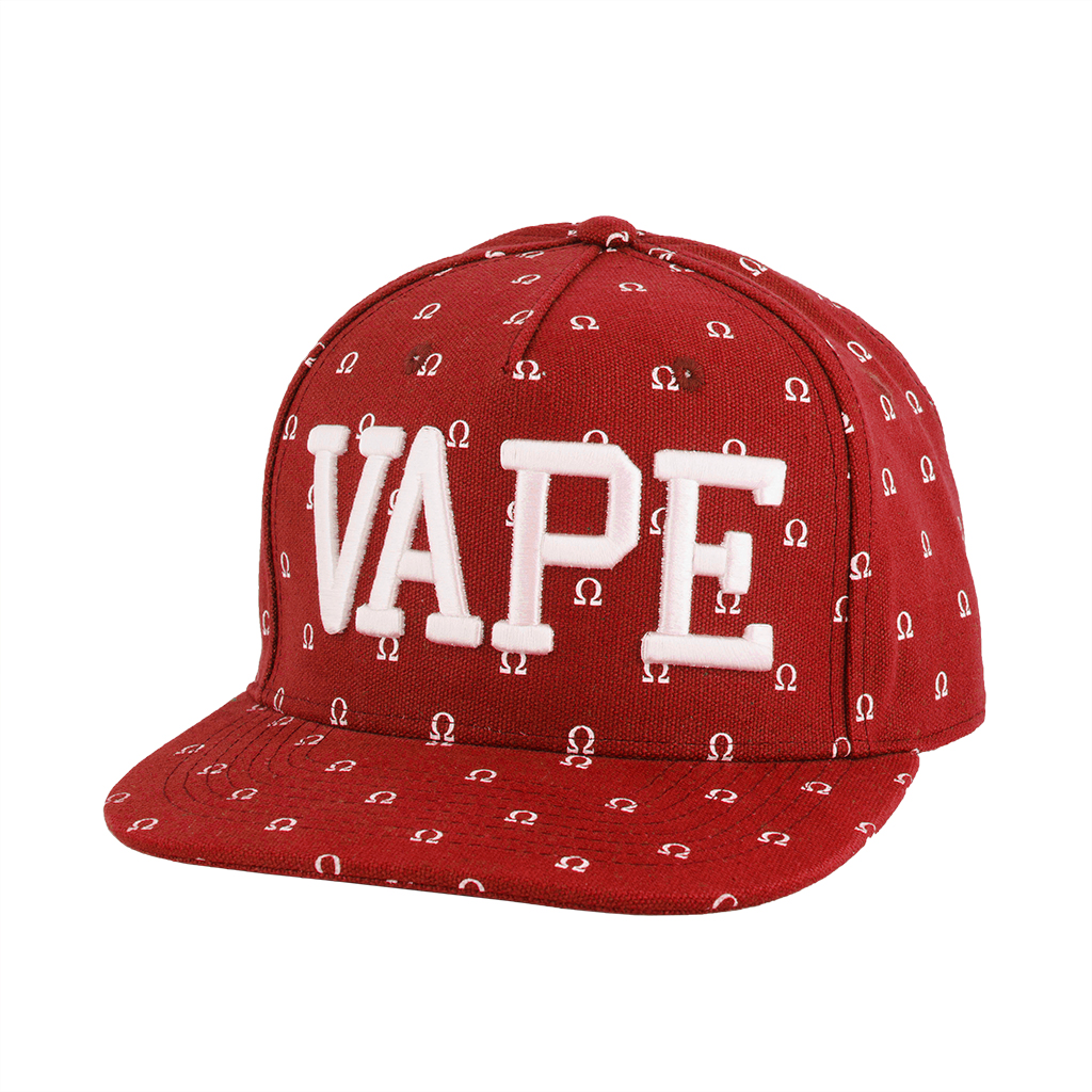 Wick & Wire – Vaper Ohm Snapback Hat (Red) Photo