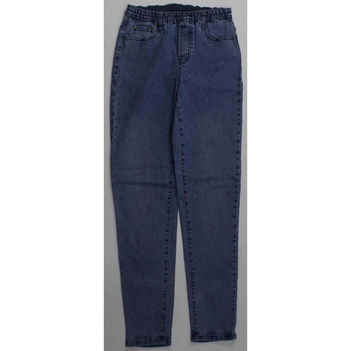 diane gilman womens xs jeans tapered straight leg tall medium wash blue denim ebay. Black Bedroom Furniture Sets. Home Design Ideas